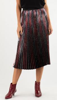 Плиссированная юбка Zadig & Voltaire с люрексом, фото