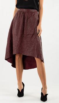 Кожаная юбка Zadig & Voltaire с ассиметричным низом, фото