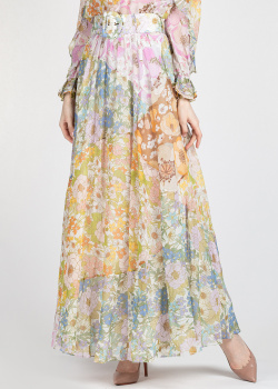 Длинная юбка Zimmermann с цветочным принтом, фото