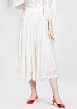 Белая юбка Zimmermann с кружевными вставками, фото