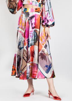 Шелковая юбка Zimmermann с ярким принтом, фото