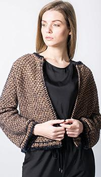 Вязанный жакет Tensione in коричневого цвета, фото
