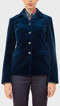 Пиджак Etro синего цвета на пуговицах, фото