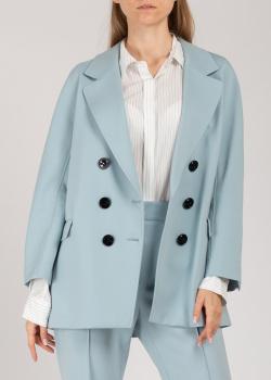 Двубортный пиджак Dorothee Schumacher голубого цвета, фото