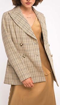 Шерстяной пиджак Shako бежевого цвета, фото