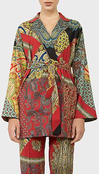 Разноцветный пиджак Etro с орнаментами, фото
