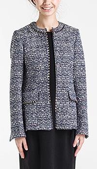 Синий пиджак Shako без воротника, фото