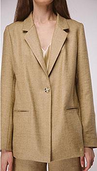 Оверсайз пиджак из льна Shako песочного цвета, фото