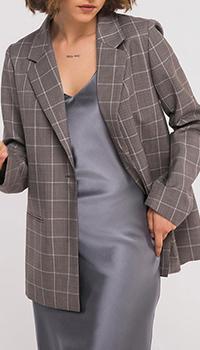 Пиджак Shako серого цвета в клетку, фото