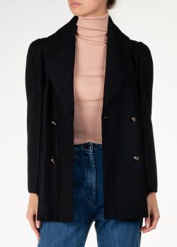 Двубортный пиджак Nina Ricci черного цвета, фото