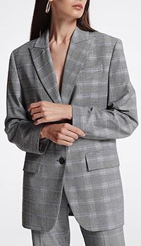 Серо-голубой пиджак Shako, фото