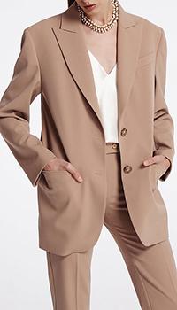 Бежевый однобортный пиджак Shako, фото