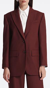 Однобортный пиджак Shako бордового цвета, фото