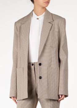Пиджак в клетку Nina Ricci с накладными карманами, фото