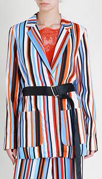 Длинный жакет Sfizio в цветную полоску, фото