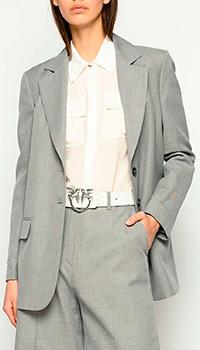 Серый блейзер Pinko мужского кроя, фото