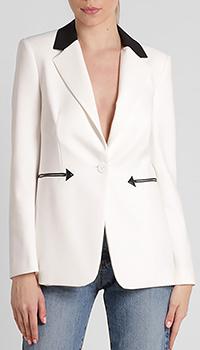 Белый пиджак Pinko с воротником черного цвета, фото