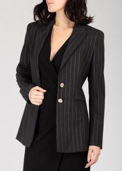 Черный пиджак Pinko в полоску, фото