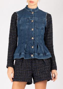 Жакет Pinko синего цвета с джинсовой жилеткой, фото