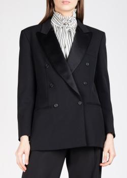 Двубортный пиджак Alberta Ferretti черного цвета, фото