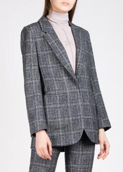 Клетчатый пиджак Lorena Antoniazzi серого цвета, фото