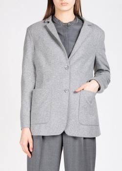 Серый пиджак Fabiana Filippi с накладными карманами, фото
