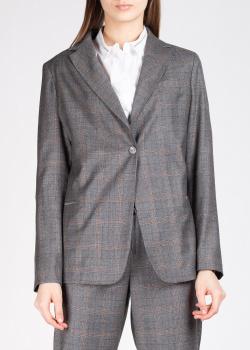 Серый пиджак Fabiana Filippi в коричневую клетку, фото