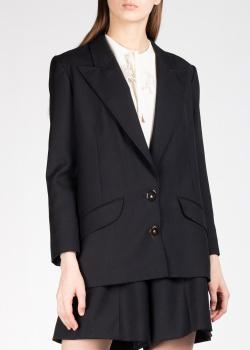 Черный пиджак Patou с широкими лацканами, фото