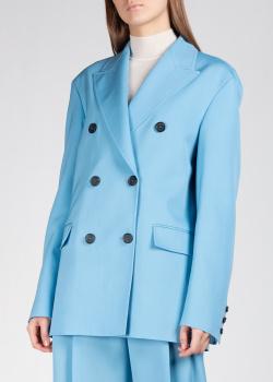 Двубортный пиджак Rochas голубого цвета, фото