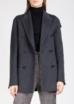 Двубортный шерстяной пиджак Rochas серого цвета, фото