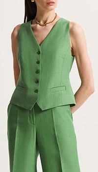 Жилет Shako с V-образным вырезом зеленый, фото