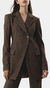 Пиджак Shako из натуральной шерсти коричневого цвета, фото