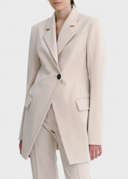 Бежевый пиджак Shako на одну пуговицу, фото