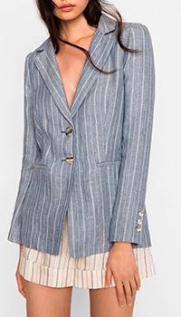 Пиджак Twin-Set льняной в полоску, фото