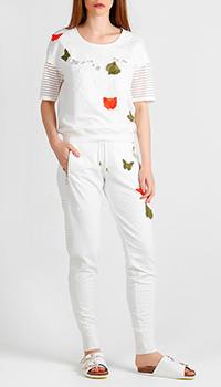 Костюм белого цвета Sportalm с бабочками, фото