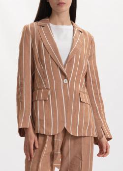 Коричневый пиджак Beatrice.B в полоску, фото