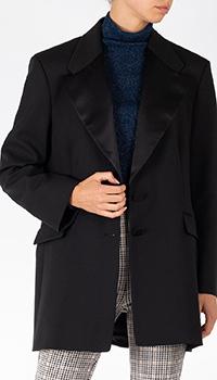 Удлиненный пиджак Patrizia Pepe черного цвета, фото