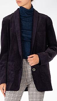 Шерстяной пиджак Patrizia Pepe в мелкий рубчик, фото