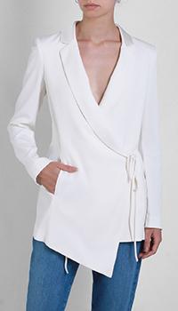 Белый пиджак Patrizia Pepe на завязках, фото