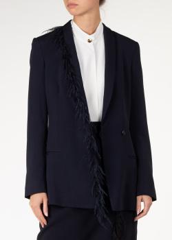 Темно-синий пиджак Cushnie et Ochs приталенного силуэта, фото