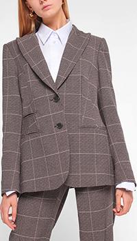 Клетчатый пиджак Luisa Cerano с длинным рукавом, фото