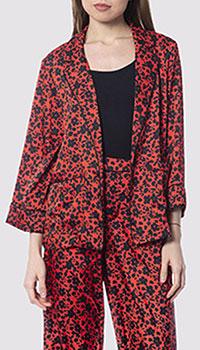 Пиджак без застежек Silvian Heach красно-черного цвета, фото
