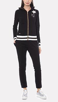 Спортивный костюм Francesca E.Versace из хлопка черного цвета, фото