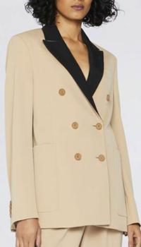 Коричневый пиджак Stella McCartney из шерсти, фото