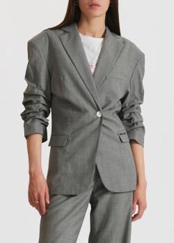 Серый жакет Miss Sixty с собранными рукавами, фото