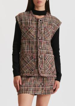 Твидовый жилет Miss Sixty с накладными карманами, фото