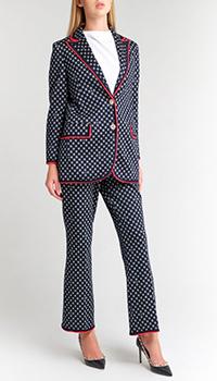 Брючный костюм Gucci с геометрическим узором, фото