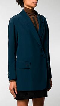 Шелковый пиджак Fendi темно-синего цвета, фото