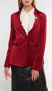 Велюровый пиджак Liu Jo бордового цвета, фото
