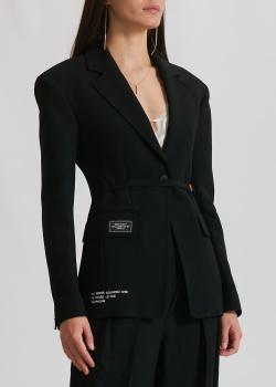 Черный жакет Miss Sixty с принтом, фото